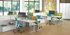 The World's Most Successful Brands Deploy These Office Design Approaches – Modern Office Furniture Open Office Design, Open Space Office, Creative Office Space, Office Spaces, Office Furniture, Furniture Design, Sit To Stand, Office Workstations, Adjustable Height Desk