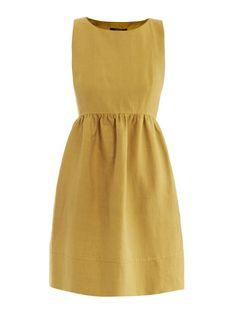 simple mustard dress
