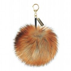 Helen Moore Fox Faux Fur Large Pom Pom Keyring available at www.thegreatbritishhome.com #pompom #madeinbritain #fauxfur #keyring #handbag #accessories