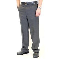 b542203651 Emsmorn Men's Stretch Grey Bowls Trousers. Made from Teflon coated stretch  polyester Style - plain