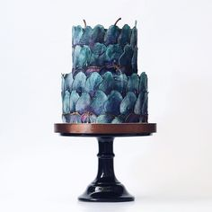 This Russian bakery hand-paints their cakes, and we can't stop staring. Because looking at dessert is the next best thing to eating it, right? Gorgeous Cakes, Pretty Cakes, Cute Cakes, Amazing Cakes, Fondant Cakes, Cupcake Cakes, Pear Cake, Modern Cakes, Cake Trends