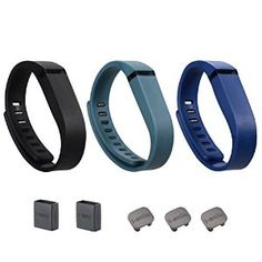 i-smile® 3PCS Replacement Bands with Metal Clasps for Fitbit Flex / Wireless Activity Bracelet Sport Wristband / Fitbit Flex Bracelet Sport Arm Band (No tracker, Replacement Bands Only) & Silicon Fastener Ring For Free (Black&Navy&Slate, Large) -   - http://sportschasing.com/sports-outdoors/ismile-3pcs-replacement-bands-with-metal-clasps-for-fitbit-flex-wireless-activity-bracelet-sport-wristband-fitbit-flex-bracelet-sport-arm-band-no-tracker-replacement-bands-onl