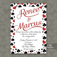 Poker Vegas Wedding Invitation  Playing Cards by NiftyPrintables