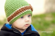 Pick your favorite Football Team Colors. Crochet Beanie Hat Football Beanie with by LittleMommaBoutique, $22.50