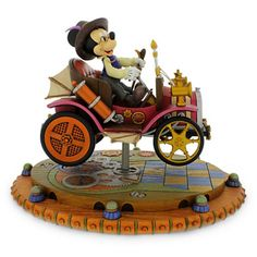 Disney Parks Mickey Steam Punk Horseless Carriage Figurine New With Box