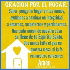 α JESUS NUESTRO SALVADOR Ω: ORACION POR EL HOGAR,Señor pongo mi hogar en tus m...