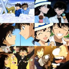 Kaito and Aoko detective conan Inuyasha, Kaito Kuroba, Sanji One Piece, Anime Couples, Cute Couples, Kaito Kid, Detektif Conan, Episode Interactive Backgrounds, Magic Kaito
