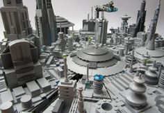 Star Wars - micro-scale Coruscant: A LEGO® creation by KW Vauban : MOCpages.com