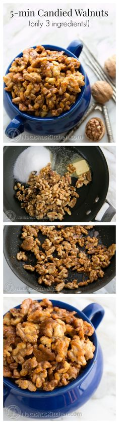 These caramelized walnuts are quite a treat. Toss them into your salad, over popcorn, or straight into your mouth. Crunch. Crunch. @natashaskitchen