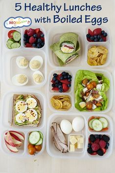 Healthy Lunch Ideas with Boiled Eggs: great lunch ideas for back-to-school and the office to add some extra protein. Healthy Lunch Ideas with Boiled Eggs: great lunch ideas for back-to-school and the office to add some extra protein. Easy Cooking, Healthy Cooking, Healthy Snacks, Healthy Eating, Healthy Recipes, Keto Recipes, Lunch Snacks, Clean Eating Snacks, Work Lunches