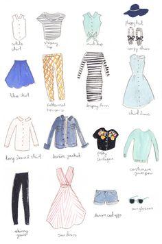 holiday wardrobe illustration emma block
