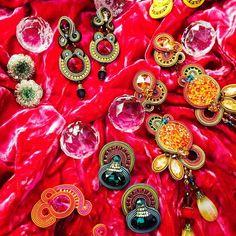 a medley of Dori's festive earrings... #DoriCsengeri #jeweltones #earrings #festive #holidays