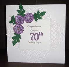 Joylovescrafts   docrafts.com 70th Birthday, I Card, Congratulations, Projects, Art, Log Projects, Art Background, Blue Prints, 70 Birthday