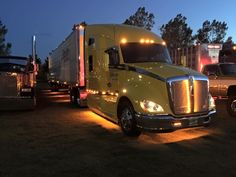 Maxxima strip lights illuminating an Advantage Transportation truck. Look at the warm glow they give!
