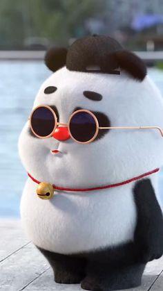 Cute Panda Baby, Cute Panda Cartoon, Panda Funny, Cute Cartoon Pictures, Cute Love Cartoons, Funny Cartoons, Cute Funny Baby Videos, Cute Funny Babies, Funny Videos For Kids