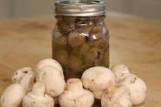 Pickled mushrooms and onions