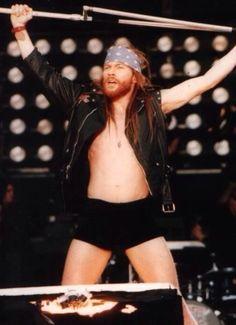 W. Axl Rose, Use Your Illusion Tour, Paris, France on June 6, 1992.