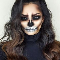 Are you ready for #Halloween? #halloweenmakeup #spookymakeup #costumemakeup #scary #mua #makeupblogger #fall #beauty #makeup #specialfx #specialfxmakeup #makeupartist #halloweencostume #skull #sugarskull #glam