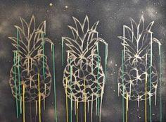 "Saatchi Art Artist Astrid Stoeppel; Painting, ""Pineapple!"" #art"