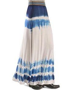 Miss Me Tie Dye Maxi Skirt