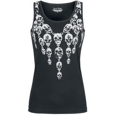 Necklace Skull Top - Top by Rock Rebel by EMP