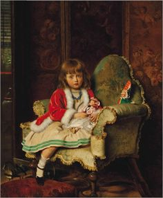 Francis John Wyburd , Little May with her Dolls