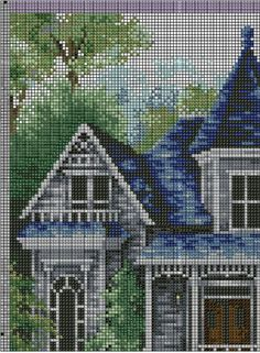 Summer comes gingerbread pattern funny cross stitch cottage Baby Cross Stitch Kits, Cat Cross Stitches, Cross Stitch House, Simple Cross Stitch, Modern Cross Stitch, Counted Cross Stitch Patterns, Cross Stitch Designs, Cross Stitch Embroidery, Cross Stitching