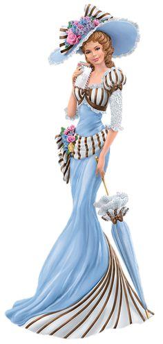 Thomas Kinkade Companion of Caring Red Lady Figurine . Thomas Kinkade, Victorian Women, Victorian Fashion, Vintage Fashion, Elegant Woman, Mode Glamour, Illustration Mode, Illustrations, My Fair Lady