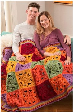 I Love the Squares for this Afghan: free crochet pattern