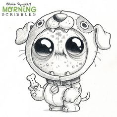 "2,088 Likes, 4 Comments - Chris Ryniak (@chrisryniak) on Instagram: ""Dog suit! #morningscribbles"""