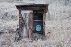 Pretty blue seat in this old outhouse | Flickr - Photo Sharing!