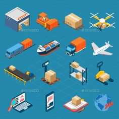 Download Free               Isometric Logistic Icons            #               3d #business #cargo #collection #concept #crate #decorative #delivery #design #distribution #elements #emblem #forklift #goods #icons #industry #inventory #isometric #logistic #merchandise #object #order #pallet #set #storage #symbol #transportation #truck #warehouse #wholesale