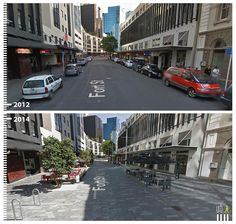 SHARED STREETS - Streets where pedestrians and cars share the same space