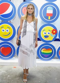 Fab: Olivia Palermo was a statuesque beauty in a gorgeous white pleated Self-portrait Ameliamidi dress with delicate lace accents. A necktie and heels added an extra touch of polish.  (Photo by John Lamparski/WireImage)  via @AOL_Lifestyle Read more: http://www.aol.com/article/2016/07/16/fab-or-flop-rita-oras-disco-dress-olivia-palermos-white-lace/21433273/?a_dgi=aolshare_pinterest#fullscreen