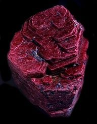 Corundum  crystal - wow! This is fabulous.  Red Corundum is more commonly known as ruby.