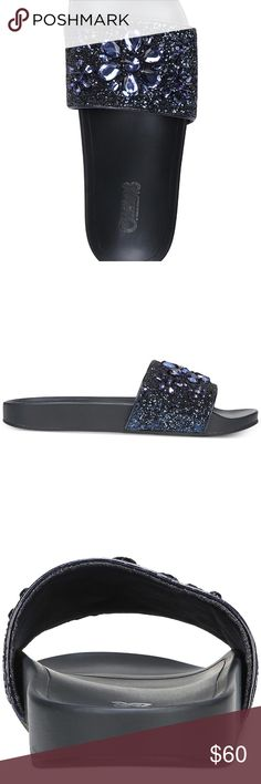 Carlos Santana Liliana Pool Slides *new in box *one of the pictures includes all the products details *no flaws   make me an offer! or click bundle and i can send you at a personal offer!  any questions? be sure to comment below! Carlos Santana Shoes Slippers
