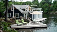 10 envy-worthy muskoka boathouses | @meccinteriors | design bites
