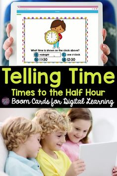 Looking for digital practice for telling time to the half hour? Try this self-checking Boom Card set! Perfect for first grade or 2nd grade distance learning! Kids And Parenting, Parenting Hacks, Teaching Second Grade, Classroom Routines, Common Core Ela, Teaching Phonics, 2nd Grade Classroom, School Games, Math Workshop