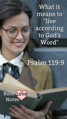 a 1-minute look at an important Biblical concept commanded in Psalm 119: Living according to God's Word. Do you know what it means?