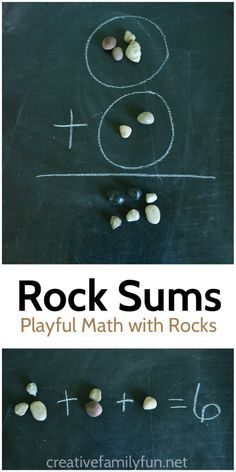 Practice math in the backyard with this for outdoor math activity, Addition With Rocks, which uses rocks as a math manipulative to work on adding. Outdoor Activities For Kids, Outdoor Learning, Math For Kids, Fun Math, Learning Activities, Family Activities, Educational Activities, Forest School Activities, Number Activities