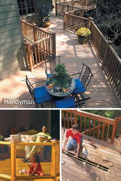 Deck Railing: Repair or upgrade your deck railings with these tips and how-tos. http://www.familyhandyman.com/decks/railing