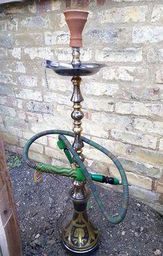 Egyptian bronze oxidised shisha/hookah pipe by MysticalMagicGoods