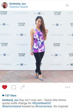 Kimberly Luu visits Style Week OC in her Wilde Willow floral halter top!