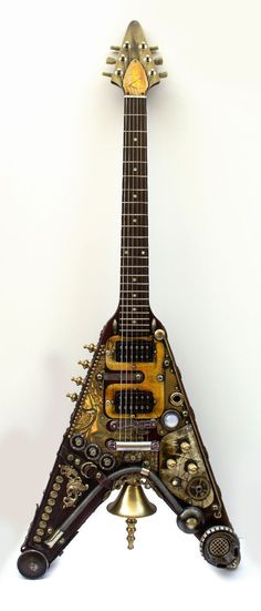 Custom Gibson Steampunk Flying V
