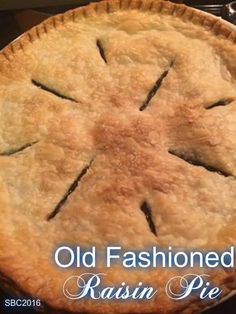 OLD FASHIONED RAISIN PIE - my husband's Grandmother used to make this pie for Holidays. I was honored to get the recipe and carry on the tradition. Raisin Recipes, Pie Recipes, Cooking Recipes, Recipies, Healthy Recipes, Dessert Salads, Pie Dessert, Dessert Ideas, Raisin Pie Filling Recipe