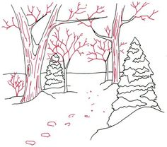 """""""How to Draw a Woodland Trail"""""""