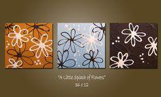 SaLe  A Little Splash of Flowers  HUGE 36 x 12 by shannacreations