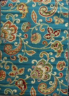 Al Fresco Paisley Turquoise 5 x 8 Outdoor Area by Shaw Living. Add pizazz indoors or out - Fun, Fresh, Fabulous. This rug is machine-woven olefin, cut-pile construction, Resistant to color fade. Now On Sale Al Fresco http://www.amazon.com/dp/B00U42R34U/ref=cm_sw_r_pi_dp_Zz3Hvb0PGVYS2