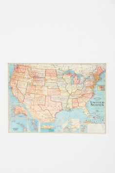 USA Map Poster - Urban Outfitters
