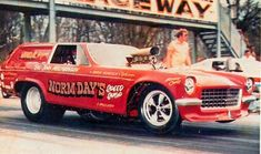 This Vega Wagon was not the first car that Indiana based racer Norm Day ran under another racers name, Day had ran the former Mazmanian Thompson Opel Cadet under Jr. Thompson's banner in AA/GS action on the UDRA circuit and match races. Funny Car Drag Racing, Nhra Drag Racing, Funny Cars, Antique Cars For Sale, Vegas, Thing 1, Suv Cars, Trucks And Girls, Drag Cars
